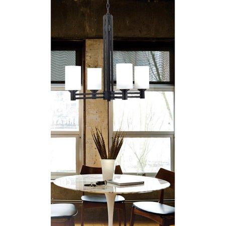 Kenroy Home Slender 4-Light Chandelier, Oil Rubbed Bronze