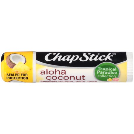ChapStick Tropical Paradise Collection  (Aloha Coconut, 1 Stick) Season Flavored Lip Balm Tube, 0.15 Ounce Coconut Flavored Lip Balm