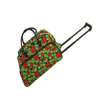 World Traveler Iridescent Paisley 21 in. Rolling Duffel Bag