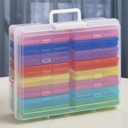 Colorful Photo Filing and Storage Case - Functional Picture Organizer