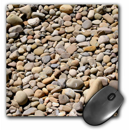 - 3dRose River rock pebbles with shades of different gray - stone, nature, pattern, round, zen, abstract, Mouse Pad, 8 by 8 inches
