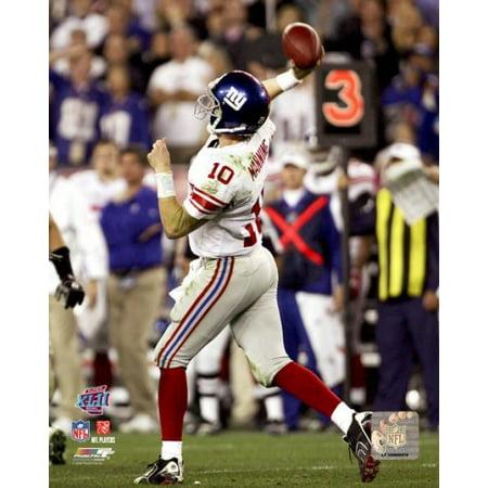 Eli Manning Super Bowl XLII Action Photo Print