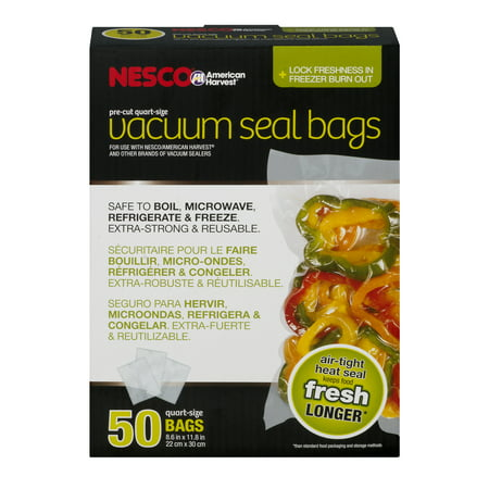 - Nesco 50 Pre-Cut Quart Sized Vacuum Sealer Bags (8.6