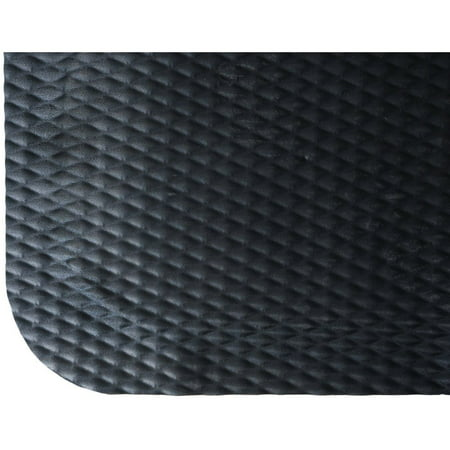 Hog Heaven Plush Anti Fatigue (M+A Matting Black Nitrile PVC Foam Hog Heaven Anti-Fatigue Mat - 3'L x 2'W x 7/8 H (422000023))
