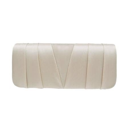 Beaded Evening Bag Handbag - Elegant Classic Satin Pleated Satin Flap Clutch Evening Bag Handbag