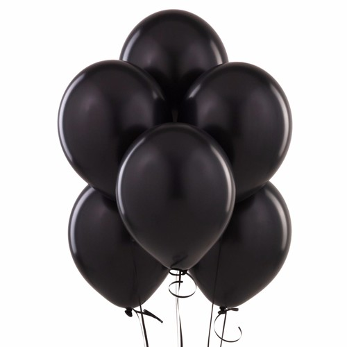 "Wideskall® 9"" Multi Colors Helium Latex Balloon for Birthday Party Wedding Balloons, Black - Pack of 80"