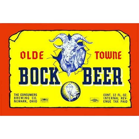 "Olde Towne Bock Beer- Fine Art Canvas Print (20"" x 30"")"