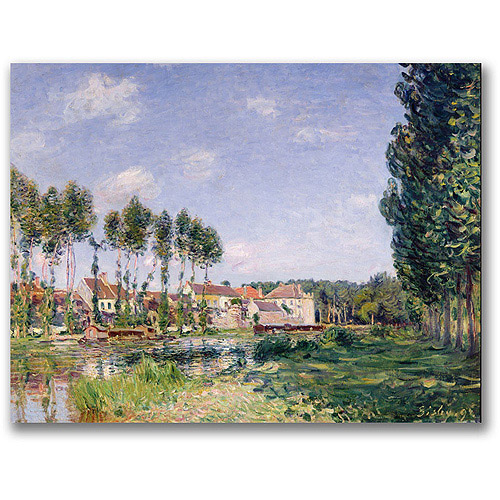 "Trademark Fine Art ""Banks Of The Loing, Moret"" Canvas Wall Art by Alfred Sisley"