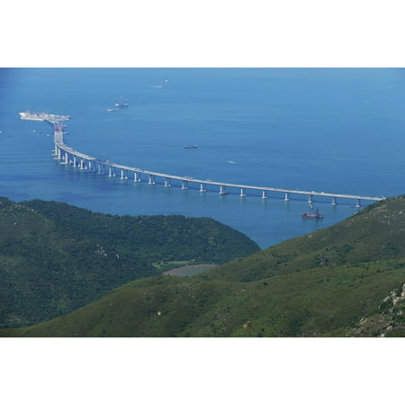 Canvas Print Island Hong Kong Bridge Site Macao Macau China Stretched Canvas 10 x (Best Chinese Clothing Sites)