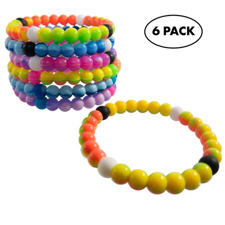 Bracelets for Kids Girls Boys Teens 6 PCs Pack - Tie-Dye Silicone Beaded Friendship Fortune Bracelet Set - Party Favors and Camp Gifts for Teenage Boy or Girl](Beaded Friendship Bracelets)