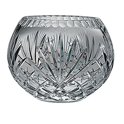 Majestic Gifts Hand Cut Crystal Bowl, 5-Inch, Rose ()