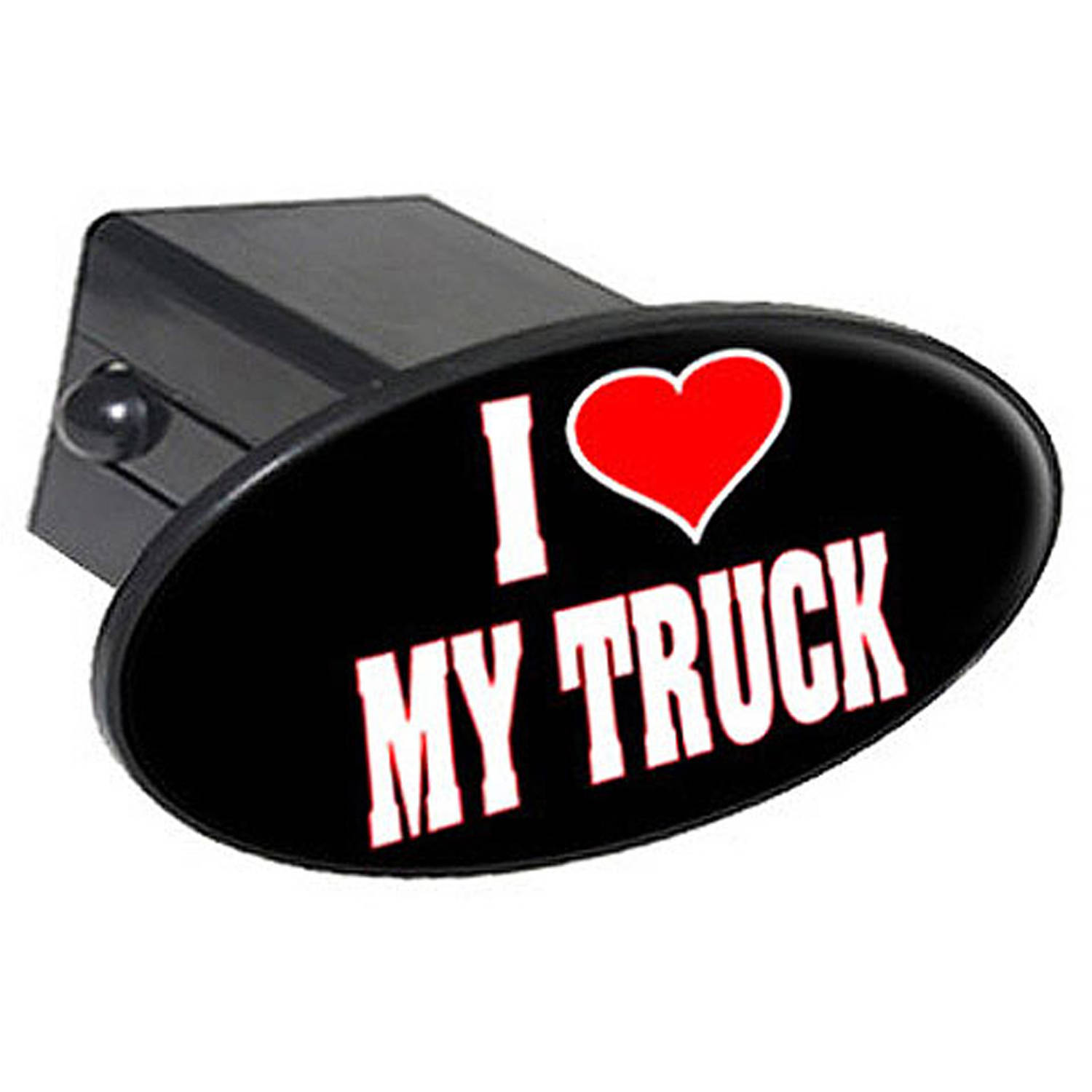 """I Love Heart My Truck 2"""" Oval Tow Trailer Hitch Cover Plug Insert"""