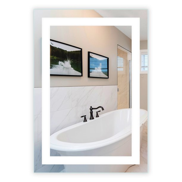 Led Front Lighted Bathroom Vanity Mirror 28 Wide X 40 Tall Commercial Grade Rectangular Wall Mounted Walmart Com Walmart Com