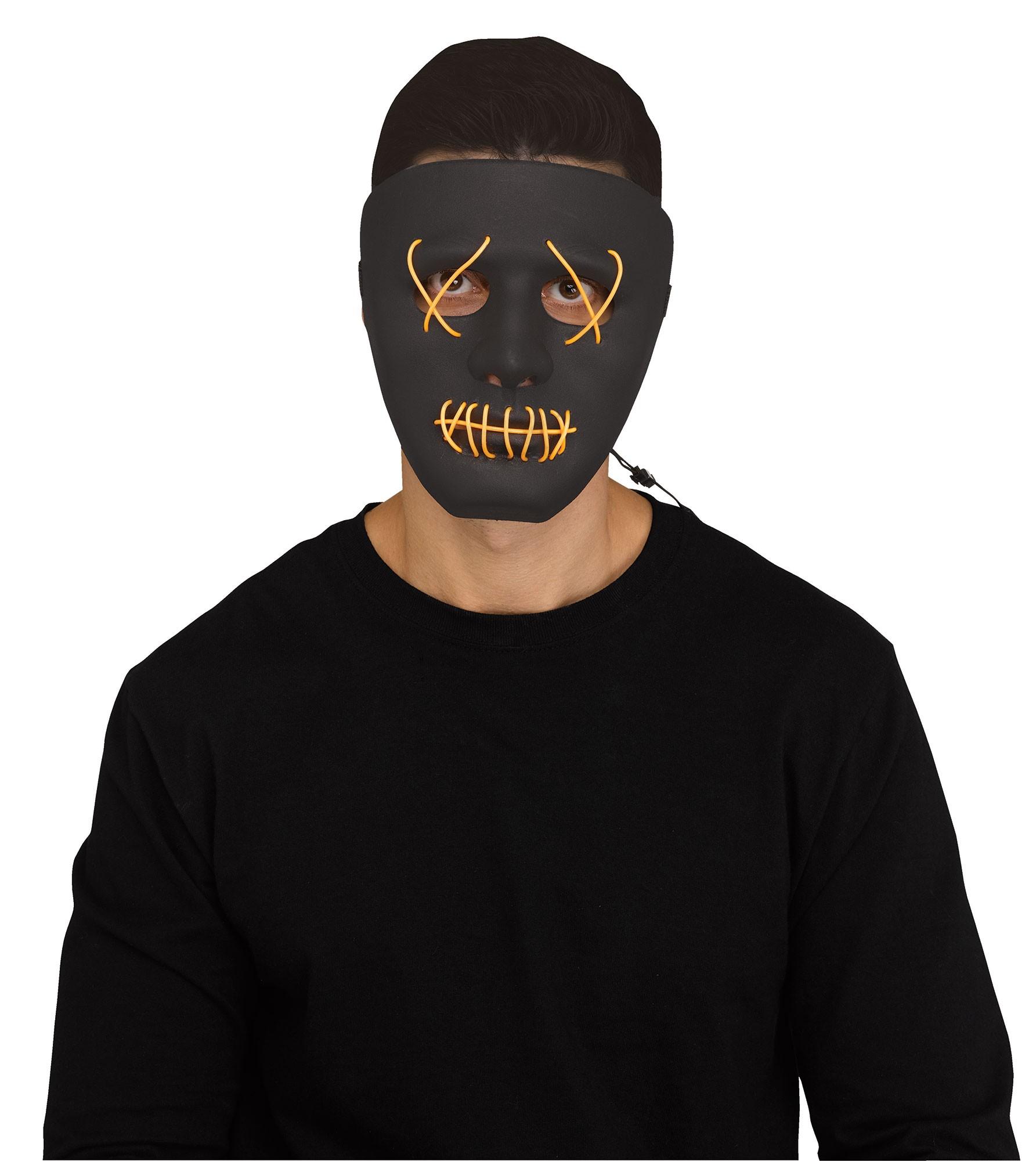 Fun World Scary Glowing Illumo Battery Powered Halloween Mask, One-Size