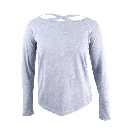 728fd86d2 DKNY Women's Open-Back Thumb-Hole Top (L, Grey) - Walmart.com