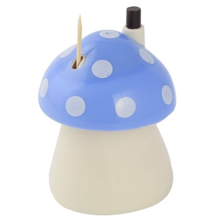 Uxcell Family Automatic Plastic Mushroom Shaped Toothpick Holder Case Sky Blue (Automatic Toothpick Holder)