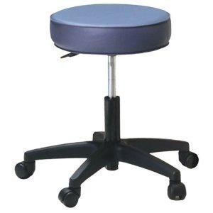 Pneumatic Rolling Stool – Standard Foam and Levante Upholstery-Color:Agate