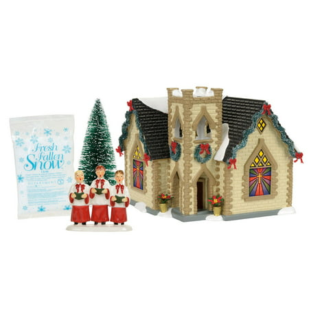 Dept 56 Snow Village 4056679 Golden Cross Church Box Set SALE