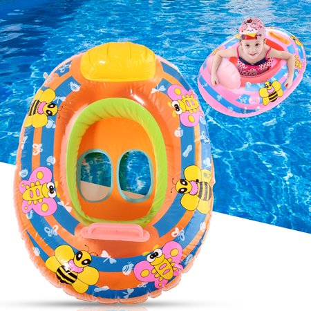 Inflatable Swimming Seat Kids Baby Safety Swim Ring Beach Swimming Pool Care Aid Trainer Float Ring Random
