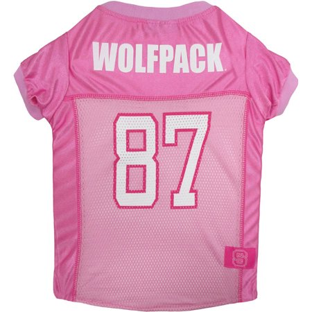 Nc State Wolfpack Pins - Pets First College NC State Wolfpack Pet Pink Jersey, 4 Sizes Available