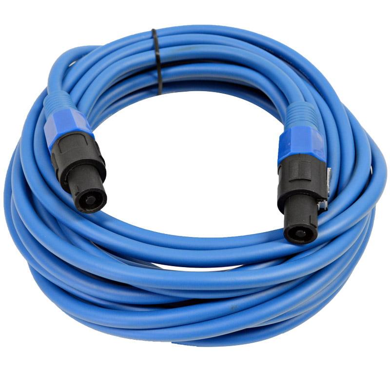Seismic Audio  12 Gauge 25 Foot Blue Speakon to Speakon Speaker Cable 25' Blue - TW12S25Blue