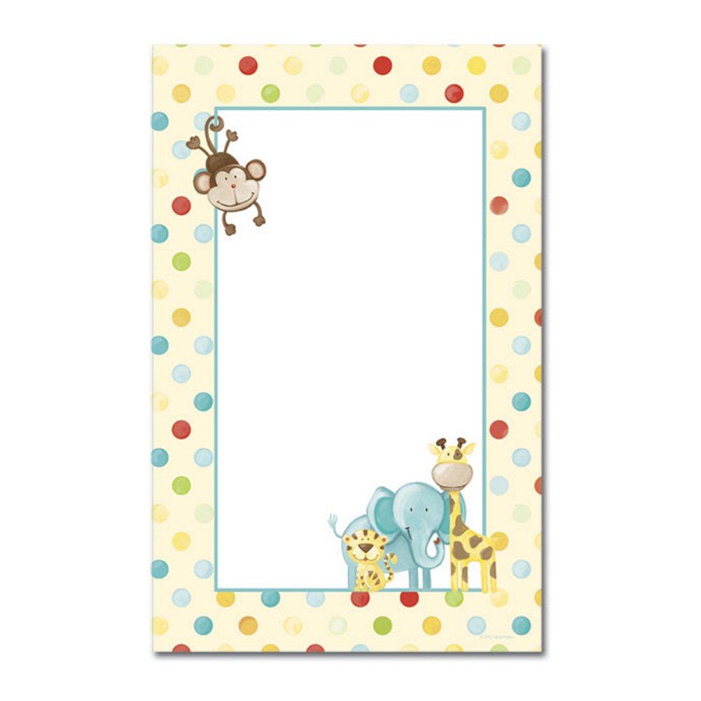 Baby Zoo Animals Jumbo Printable Cards With White Envelopes - Pack of 16