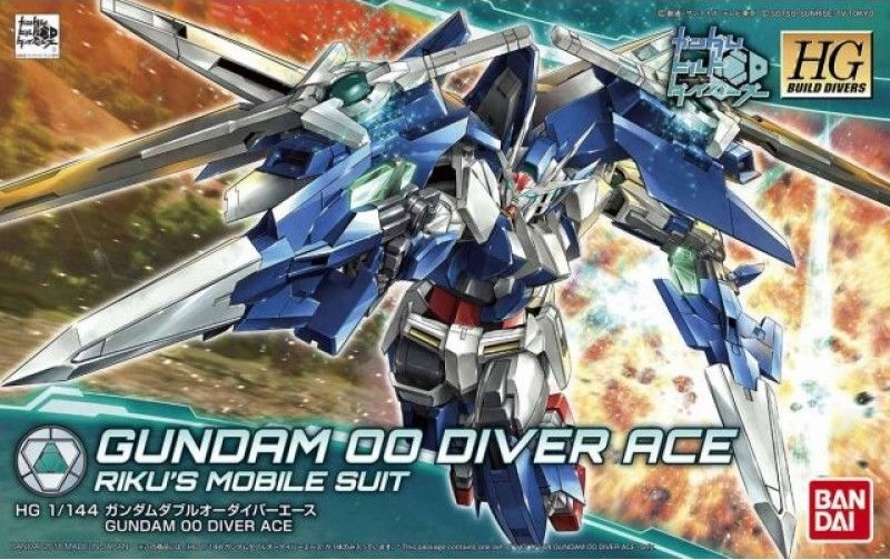 Bandai Hobby Gundam Build Divers #09 Gundam 00 Diver Ace HG 1 144 Model Kit by Bandai Hobby