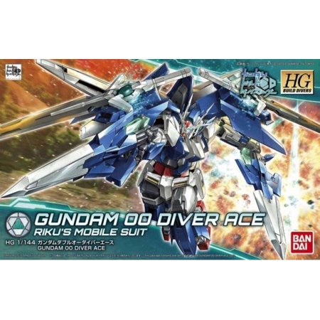 New Bandai Gundam Seed (Bandai Hobby Gundam Build Divers #09 Gundam 00 Diver Ace HG 1/144 Model)