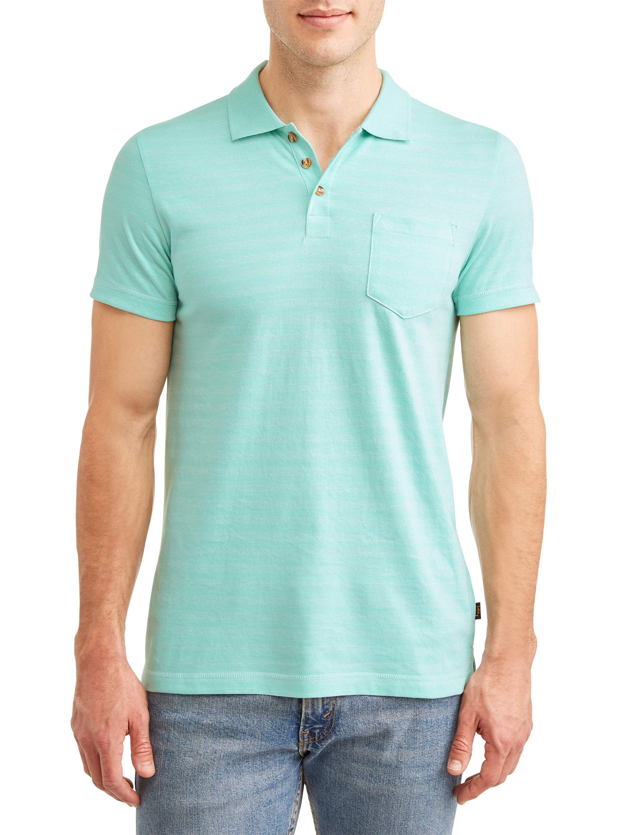 Lee Men's Short Sleeve Striped Polo, Available up to size 2XL