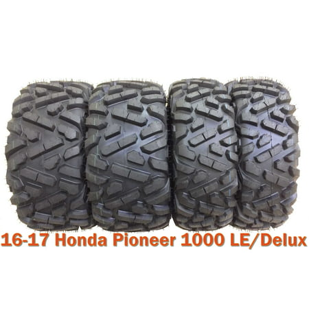 Set 4 Radial ATV Tires 27x9R14 & 27x11R14 for 16-17 Honda Pioneer 1000