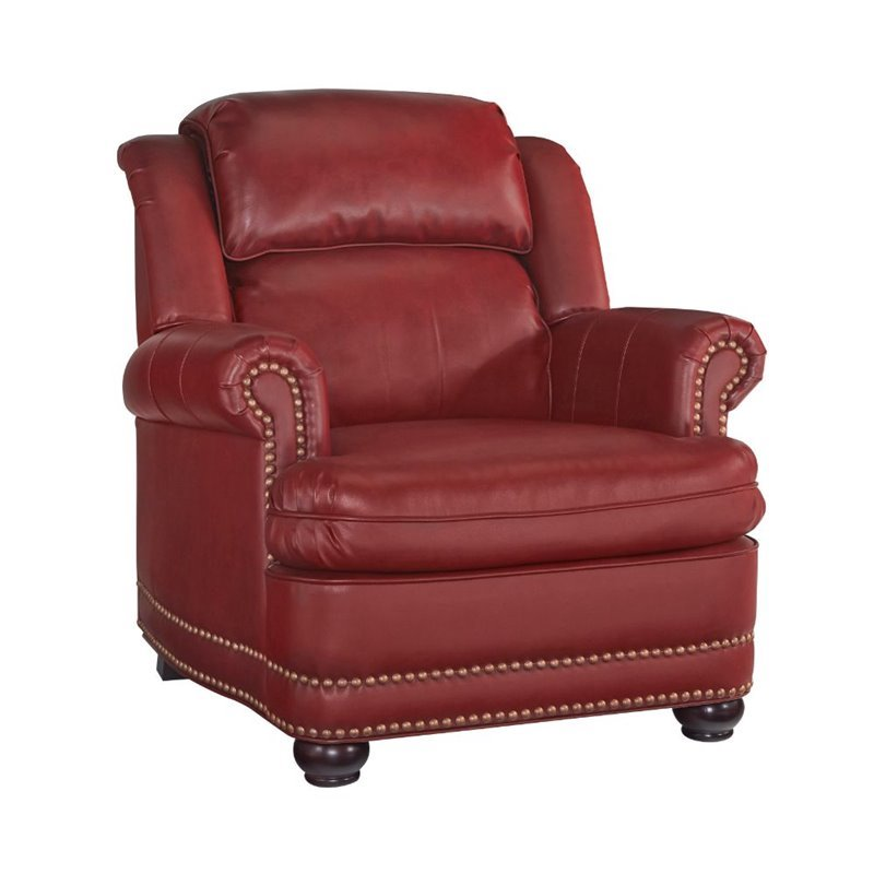 Bowery Hill Club Chair in Red by Bowery Hill