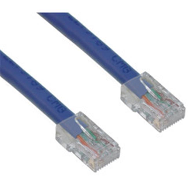CableWholesale 10X8-16125 Cat6 Blue Ethernet Patch Cable  Bootless  25 foot