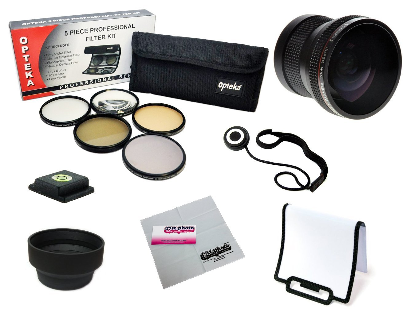 52mm Accessory Kit for NIKON D7100 D7000 D5200 D5100 D3200 D3100 D3000 D90 D80 DSLR Cameras with Opteka .20x... by Opteka