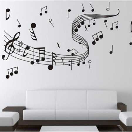 Music Notes Wall Art Sticker Removable Vinyl Wall Stickers Home Decoration - Music Note Decorations