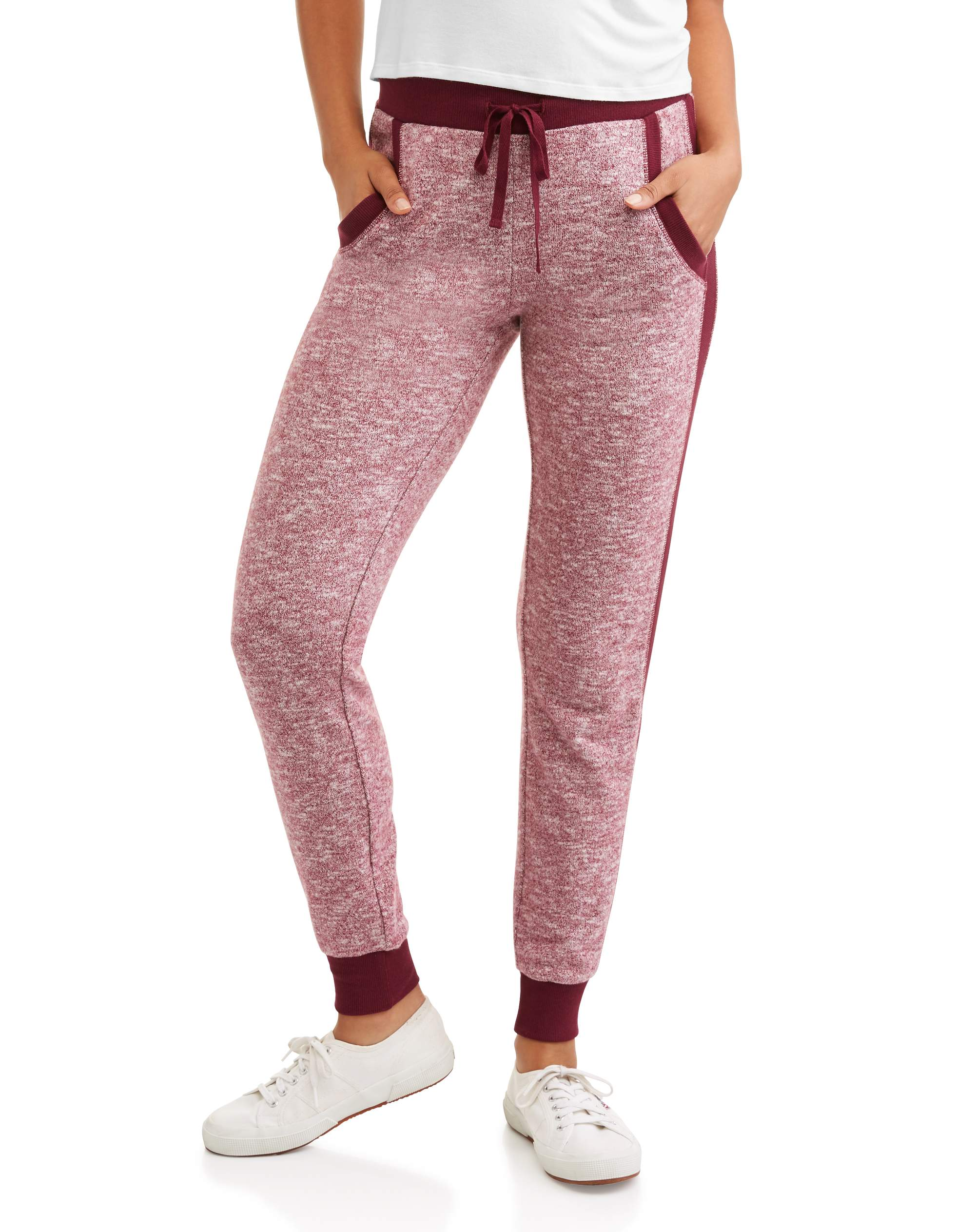 Juniors' Side Ribbed Contrast Jogger Pant