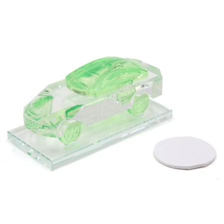 Green Fuax Crystal Car Shaped Auto Air Freshener Bottle Fragrance Perfume Base