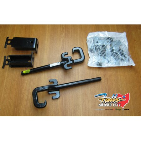 2014-2018 Jeep Grand Cherokee Front Tow Hook Set and Hardware Mopar OEM 82212095