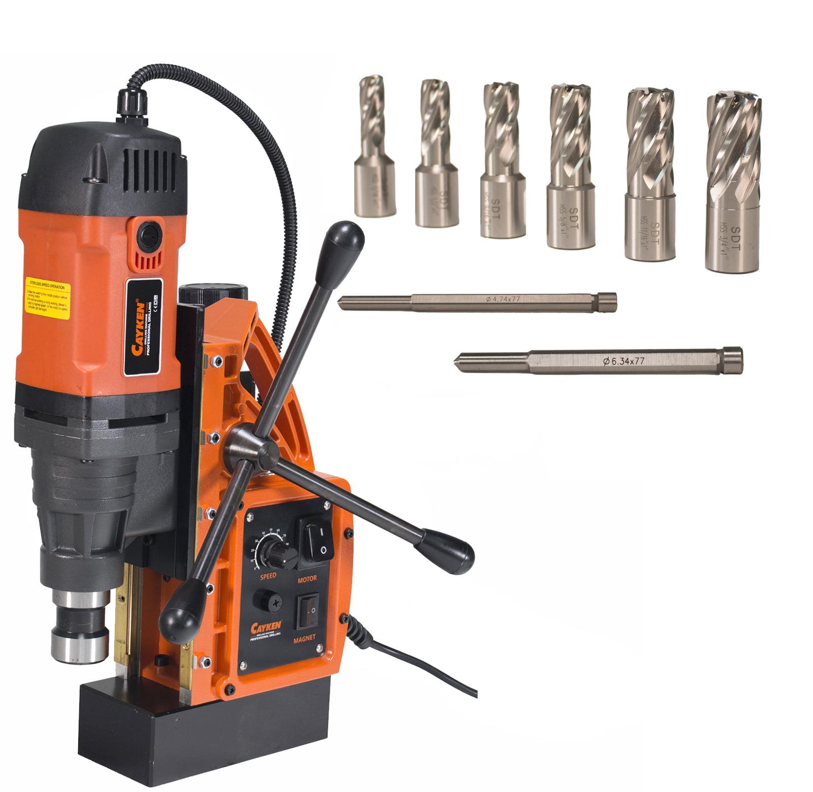"Cayken SCY-42HD 1.65"" Magnetic Drill Press with Weldon Shank and 7 Piece Small Diameter 1"" Cut Depth... by Cayken"