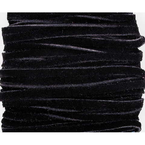 Suede Lace - Black - .125 inches x 25 yards
