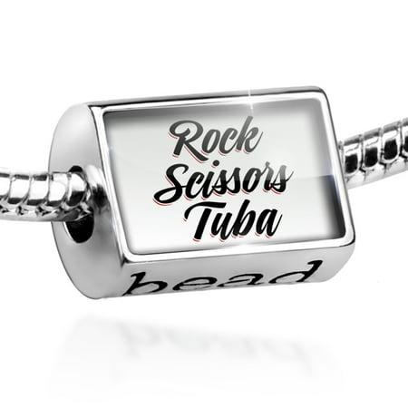 Bead Vintage Lettering Rock Scissors Tuba Charm Fits All European Bracelets (Rock Tuba)