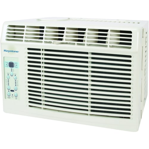 "Keystone KSTAW06B Energy Efficient 6,000-BTU 115V Window-Mounted Air Conditioner with ""Follow Me"" LCD Remote Control"