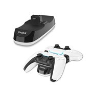 Ps5 DualSense Controller Charging Station, Controller USB Charger Dock for Playstation 5, Ps5 Console Accessories, Charge up to Two DualSense Wireless Controllers.(Black)