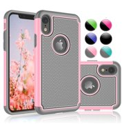 """Apple iPhone XR Case, iPhone XR Cute Case For Girls, Njjex [Shock Absorption] Drop Protection Hybrid Dual Layer Armor Defender Protective Case Cover For 2018 Apple iPhone XR 6.1"""" (2018) - Baby Pink"""