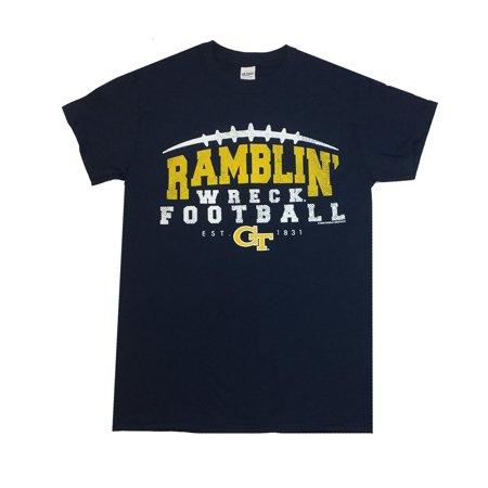 Georgia Tech Ramblin Wreck Football Est 1831 Mens Short Sleeve T-shirt