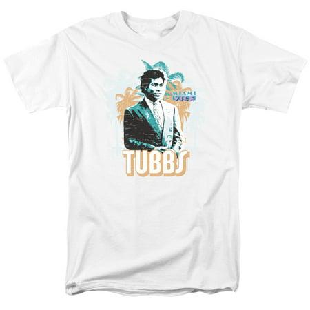 Miami Vice Tubbs Mens Short Sleeve Shirt (White, XX-Large) - Miami Vice Outfits