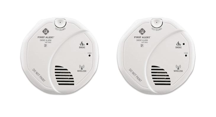 3 x Smoke Alarm Loud Cordless LED Indicator Smoke Detector Alarm Include Battery