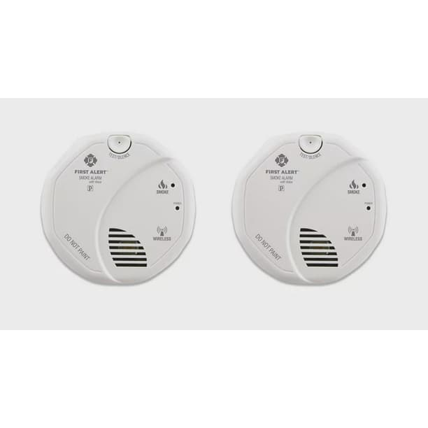 First Alert Sa511cn2 3st Interconnected Wireless Smoke Alarm With