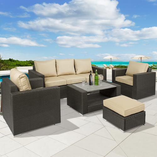 Best Choice Products 7pc Outdoor Patio Sectional PE Wicker Furniture Sofa Set