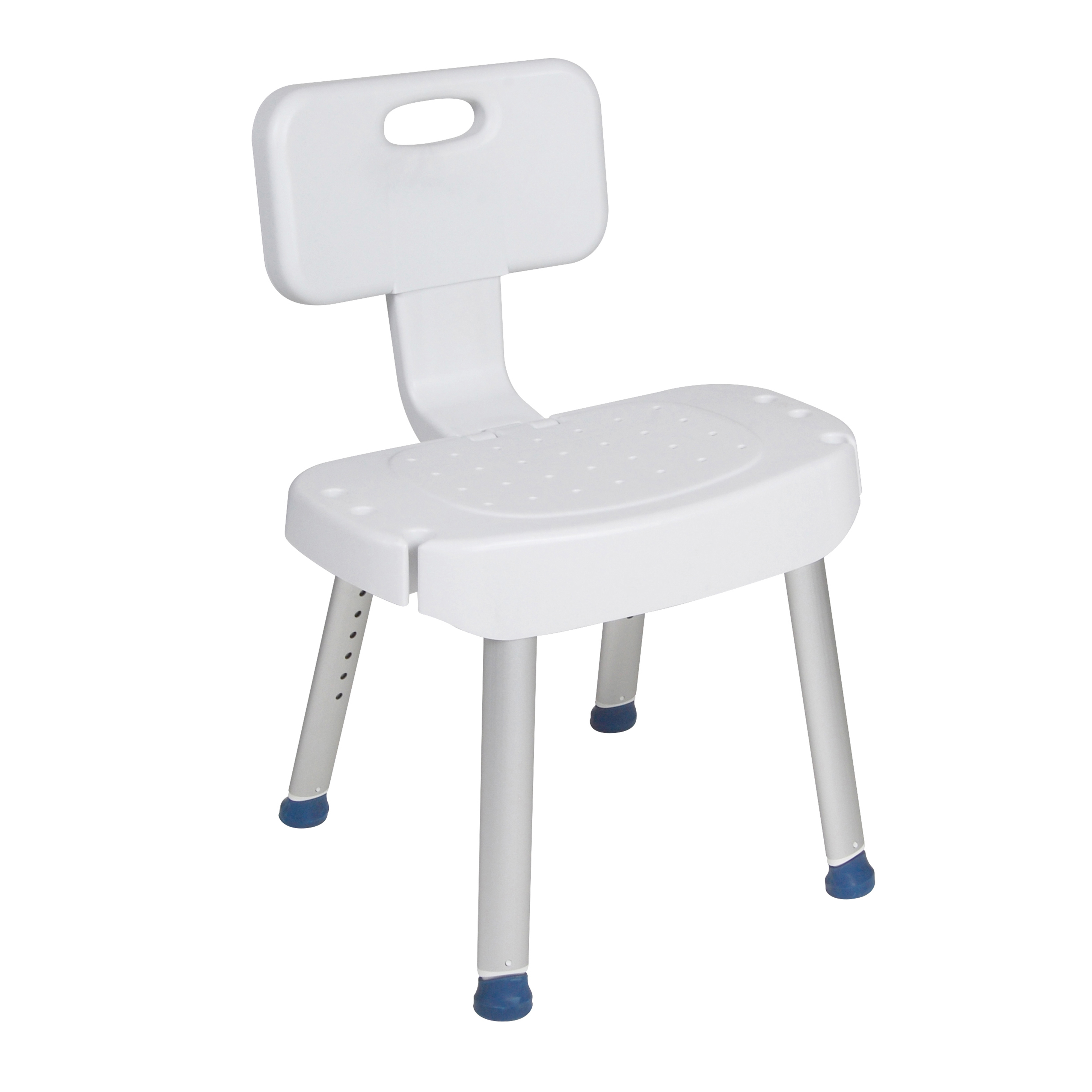 Drive Medical Bathroom Safety Shower Chair with Folding Back ...
