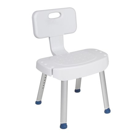 (Drive Medical Bathroom Safety Shower Chair with Folding Back)